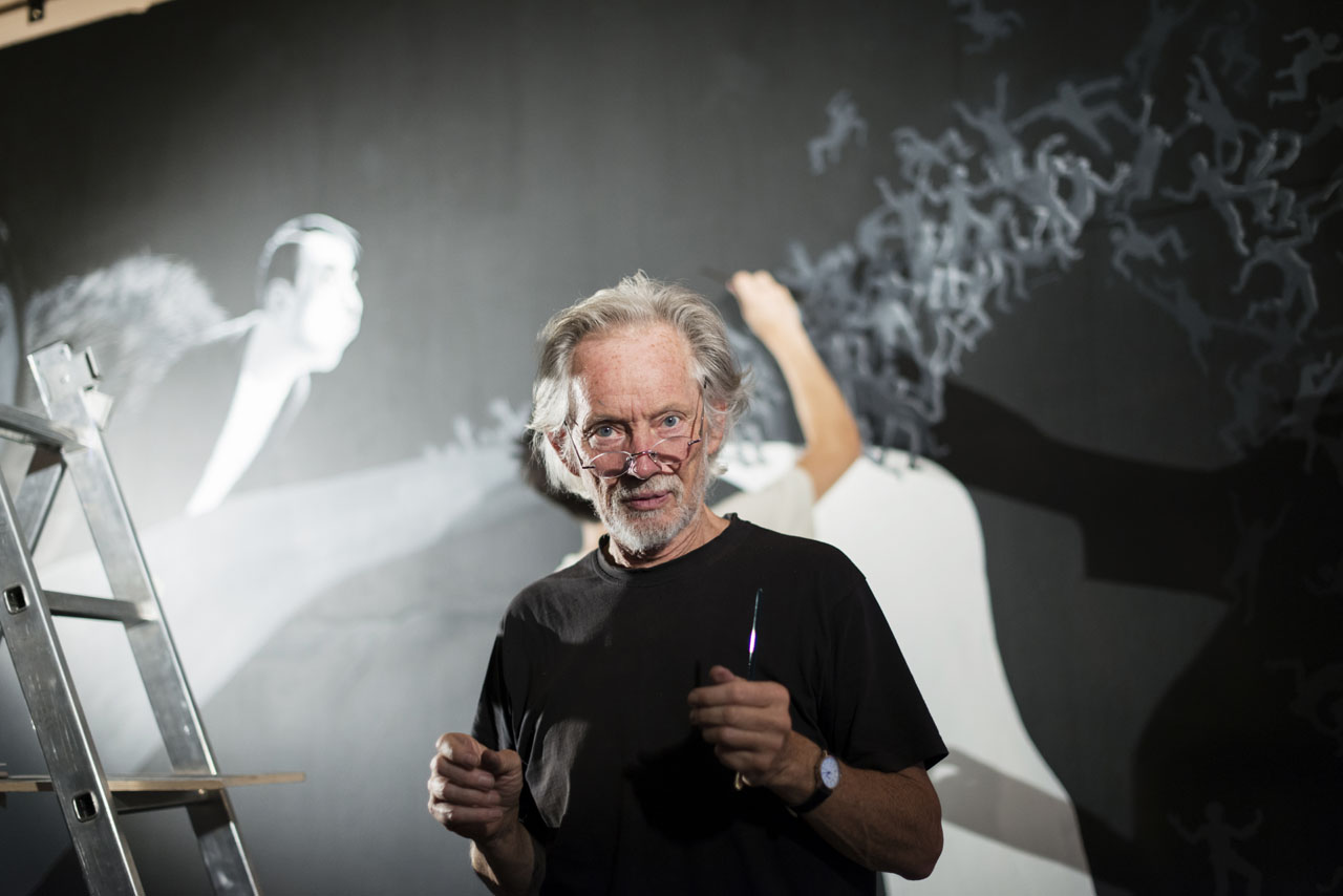 11 Klaus Voormann Theater Canvas in Prague